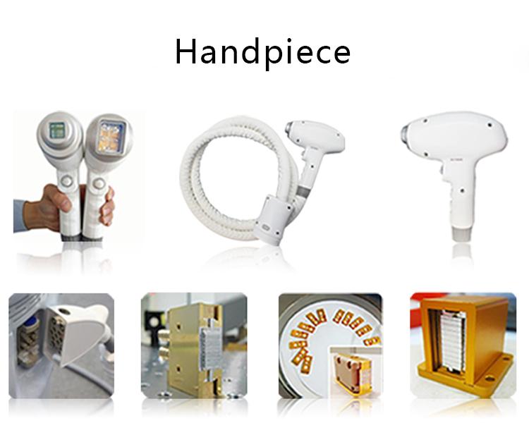 808nm diode laser hair removal machine handpiece